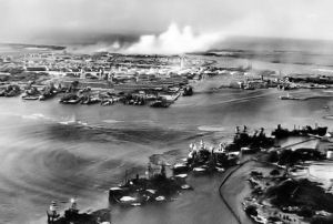 Pearl Harbor being bombed